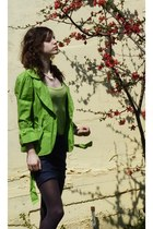 chartreuse matmazel blazer - chartreuse New Yorker top - navy uniform skirt