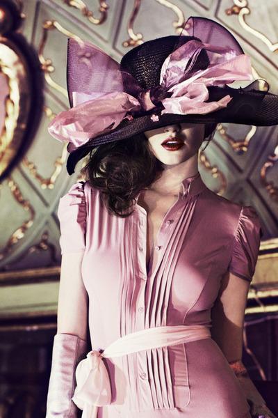 bubble gum unknown brand dress - crimson unknown brand hat