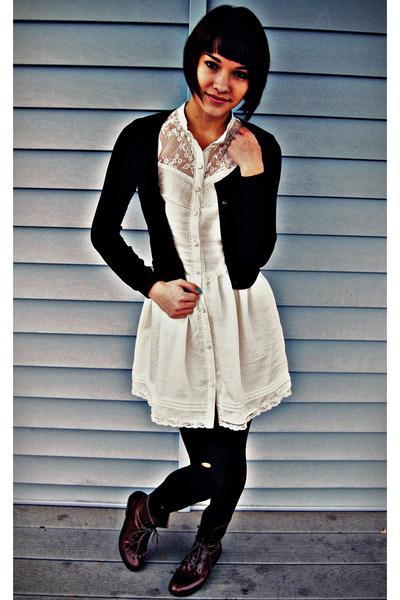 Boots White Lace H&m