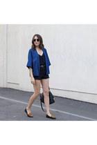 denim kimono WalG jacket - loafers Sole Society loafers