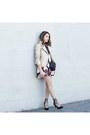 Black-floral-dress-forever-21-dress-beige-moto-jacket-forever-21-jacket