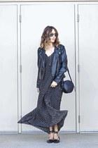 maxi dress Sheinside dress - lace-up flats makemechic flats