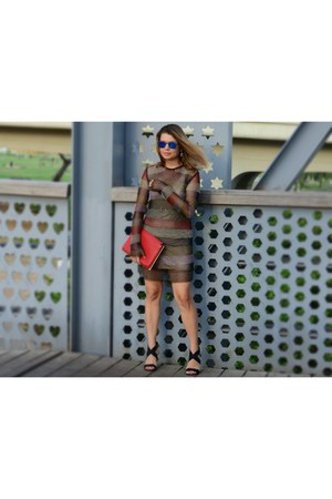 Zara bag - H&M dress - Italia Independent sunglasses - Oxana Pash earrings