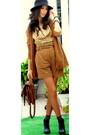 Gold-blanco-blouse-tawny-sandro-cardigan-tawny-zara-shorts-tawny-zara-bag-