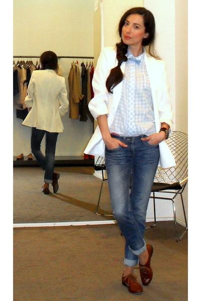 SANDRO blouse - Zara shoes - SANDRO jeans - Zara blazer