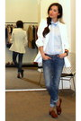 Zara-shoes-sandro-jeans-zara-blazer-sandro-blouse