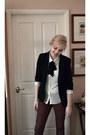 Maroon-dotti-jeans-black-temt-blazer-white-dotti-shirt