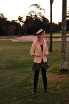 peach Valleygirl blazer - black Temt dress - tan Roxy hat