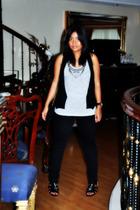 Zara vest - Zara top - from abazaar jeans - watch from Forever 21 - chanel bag -