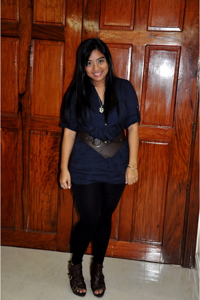 sm department store leggings - maldita bag - Mango belt - bought online heels -