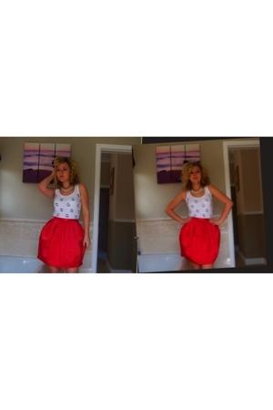Topshop skirt - vintage from Ebay from Search & Destroy vest - vintage necklace