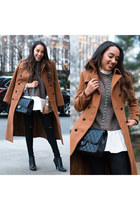 camel trench coat Express coat - black Charlotte Russe shoes
