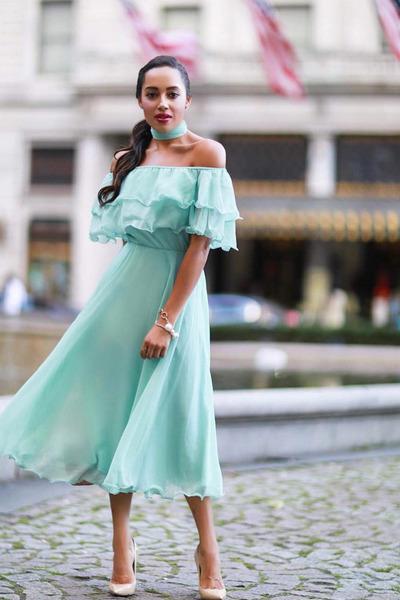 aquamarine asos dress