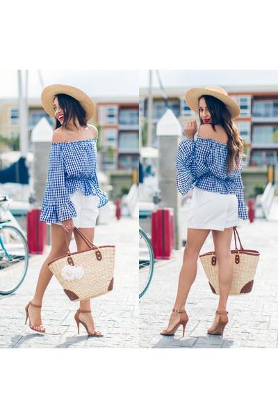 eggshell Lack of color hat - camel Charlotte Russe shoes
