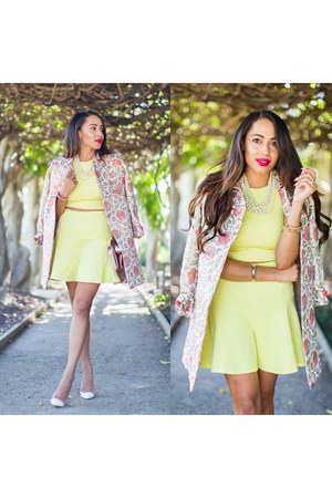 light pink floral paul & joe jacket - white gianvitto rossi shoes