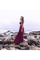 crimson Hot Miami Styles dress