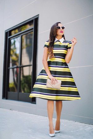 black striped Kingdom & State dress