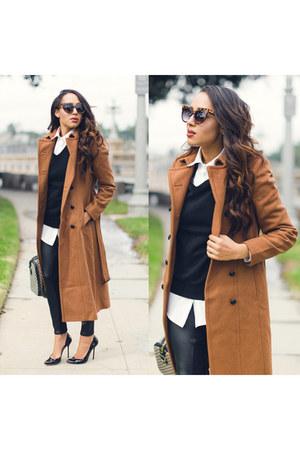 camel Express coat - black Gucci shoes - black vest Polo Mens sweater