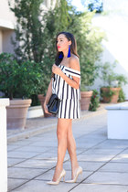 baublebar ring - nude Jimmy Choo shoes - black Chanel bag - baublebar necklace