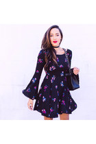 navy printed Forever 21 dress