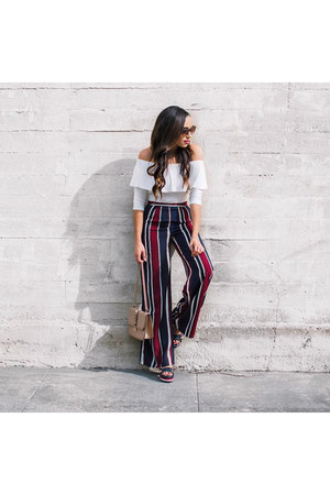 black striped Forever 21 pants