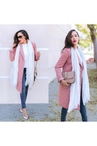 pink Forever 21 jacket - silver Valentino shoes - navy Hudson jeans