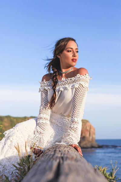 white Asilio dress