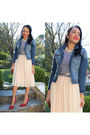 Red-isaac-mizrahi-shoes-blue-denim-papaya-jacket-white-striped-h-m-shirt