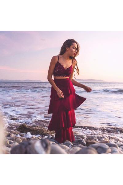 crimson Lulus dress