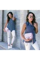 white Shop Flynn bag - white Tretorn shoes - white Black Orchid Denim jeans