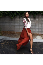 brick red The Jetset Diaries skirt