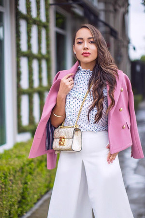 bubble gum JCrew jacket