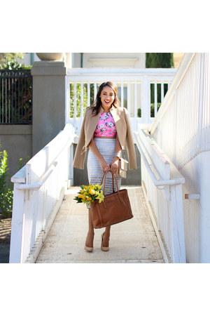 bag - jacket - heels - skirt