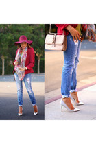 Charlotte Russe scarf - JCrew shoes - Deb Shops jeans - Dynamic Asia hat
