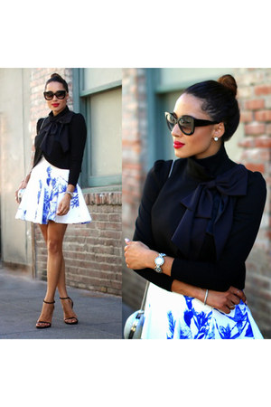 jacket - dress - sunglasses - earrings - heels