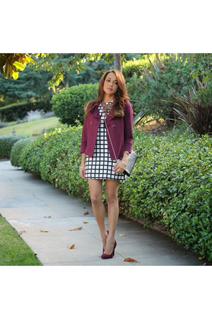 magenta banana republic jacket - black Charlotte Russe shoes