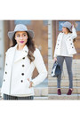 Black-stripes-h-m-jeans-silver-dynamic-asia-hat-white-charlotte-russe-jacket