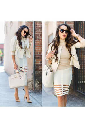eggshell banana republic jacket - nude Charlotte Russe shoes