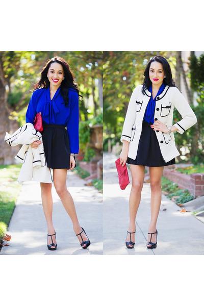 black Christian Louboutin shoes - white Eurochic Boutique jacket