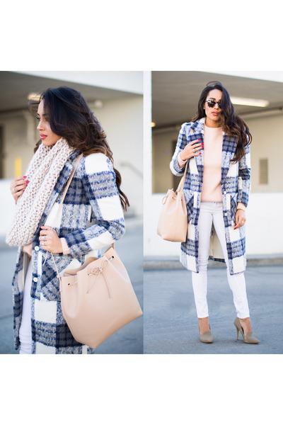 white Forever 21 coat - heather gray shoemint shoes - white rag & bone jeans