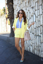 light yellow Missguided blazer