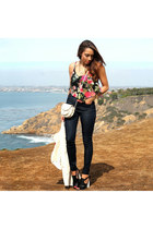 black Wet Seal jeans - black Charlotte Russe shoes - white Wet Seal jacket