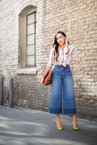 blue gauchos denim Nordstrom pants