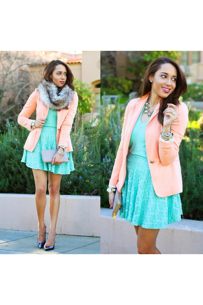 Navy-guess-shoes-light-blue-jcrew-sweater-peach-zara-blazer