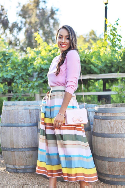 white striped Amazon Fashion skirt