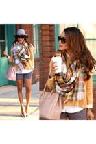 scarf - hat - sweater - bag - shorts - sunglasses