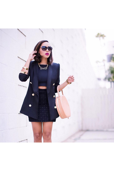 black Boohoo blazer