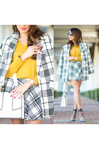 watch - jacket - bag - sunglasses - heels - skirt