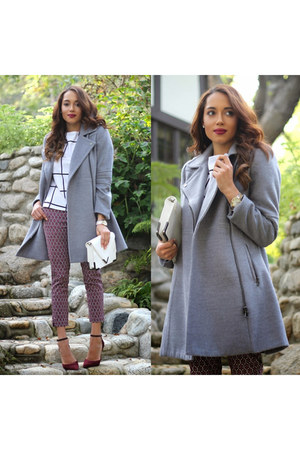 heather gray Wallis Fashion coat - black Charles David shoes