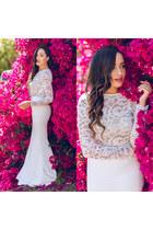 white Hot Miami Styles top - Kessaris Quartz watch - white Lulus skirt